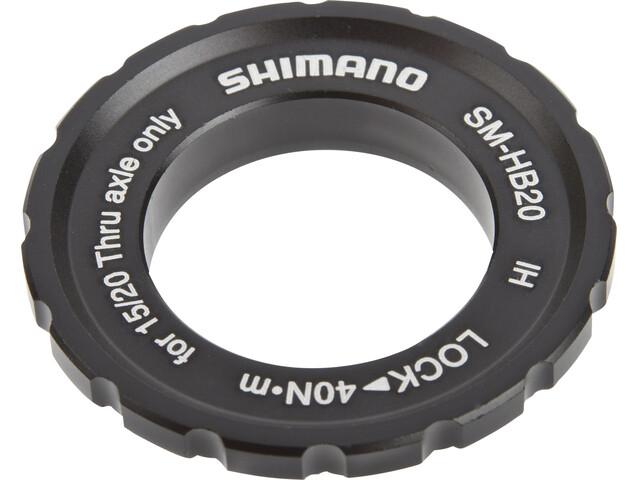 Shimano SM-HB20 Center-Lock-rengas pistoakselinavoille , musta